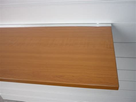 cherry slatwall floating shelf 1000mm x 200mm