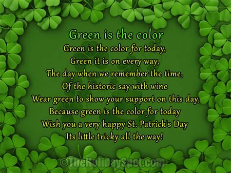 facts about the color green poems for st patrick s day