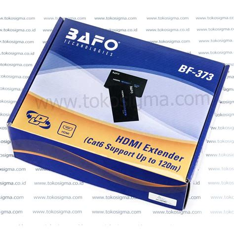Bafo Hdmi Extender Cat 5 6 Up To 60 M hdmi extender cat6 120m bafo bf 373 toko sigma