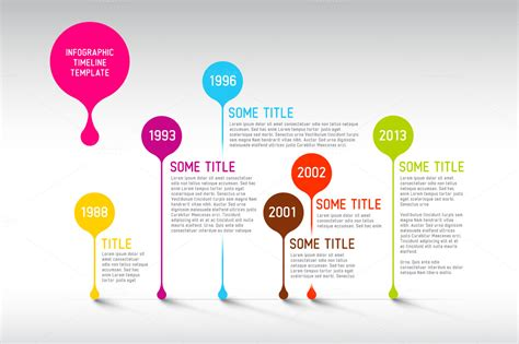 vector timeline template presentation templates on
