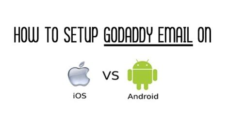 setup godaddy email on android how to setup godaddy email on iphone or droid