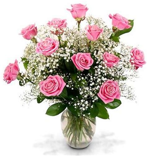 Pink Roses In A Vase by Dozen Boxed Pink Roses With Vase U S A