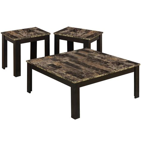marble top 3 table set in coffee tables