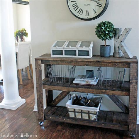 Entryway Tables And Consoles Easy Diy Wooden Entryway Console Table Beckham