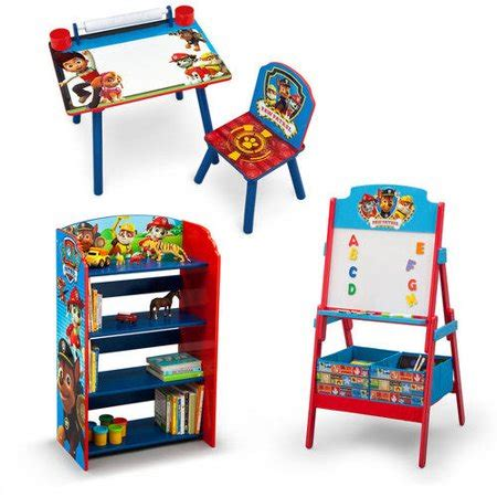 paw patrol desk nick jr paw patrol desk bookshelf easel playroom
