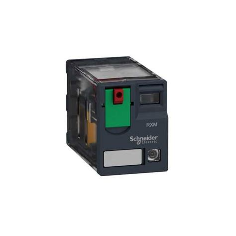 schneider electric rxm4ab2b7 4pdt miniature relay with led