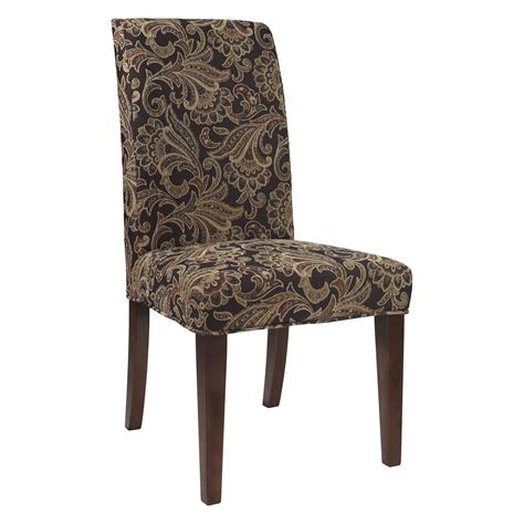 room chair powell classic seating autumn tone paisley tapestry dining room chair slipcover chair