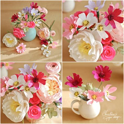 Paper Flower Designs - bust of colors and free spirit for new paper flowers