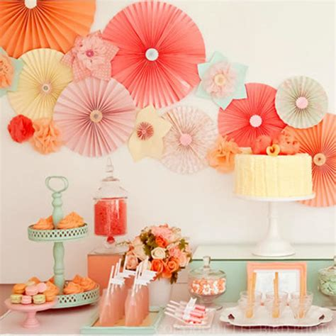 How To Make Paper Decorations For Baby Shower - 8inch tissue paper poms paper fans decorated paper