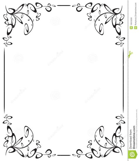corner frames frame with 4 corner decoration royalty free stock image
