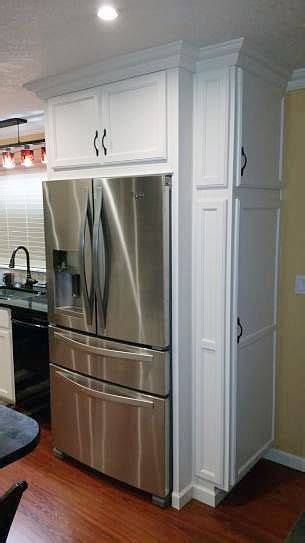how to your fridge look like a cabinet whirlpool 24 5 cu ft door refrigerator in