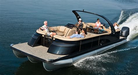 tritoon boat with twin 300 q30 10 wide twin engine custom pontoon boats