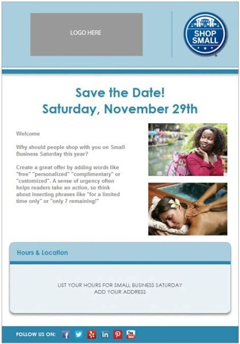 business save the date email template how to create a great last minute offer for small business