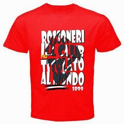 Kaos Tshirt Ac Milan Forza Milan curva sud ultrashop t shirt rossoneri ill club piu