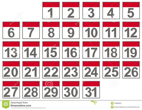 Set Calendar Set Of Calendar Files Stock Images Image 18688924
