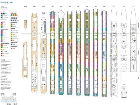 cruise ship floor plan britannia deck plan deck plans and designs cruise ship