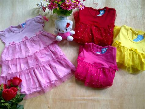 5 12 Bulan Dress Anak Bayi 001 jual dress tutu bayi warna pink umur 12 18 bulan