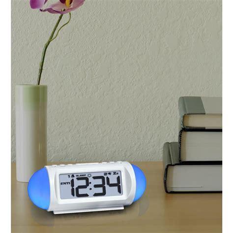 la crosse technology mood light alarm clock equity by la crosse mood light 7 25 in led alarm