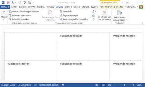 Etiketten Uit Excel In Word by Gratis Tips Word Adressenbestand Afdrukken Op Etiketten