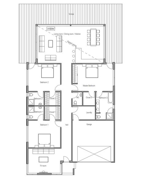 modern home floorplans australian house plans modern house plan ch147