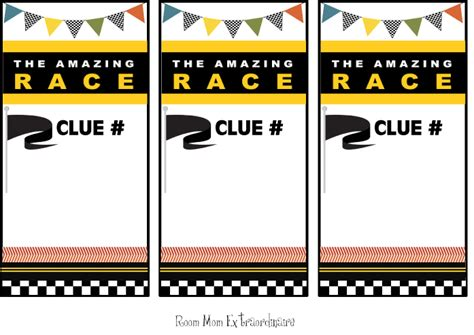 the amazing race clue template amazing race clue cards template