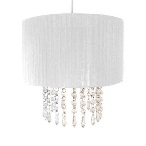 l shade with crystal droplets easy fit chandelier light l shade fitting with acrylic