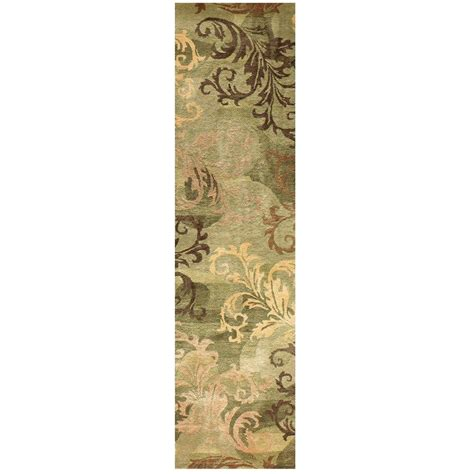 Green Runner Rug Home Decorators Collection Symphony Green 2 Ft 6 In X 10 Ft Rug Runner 2196140620 The