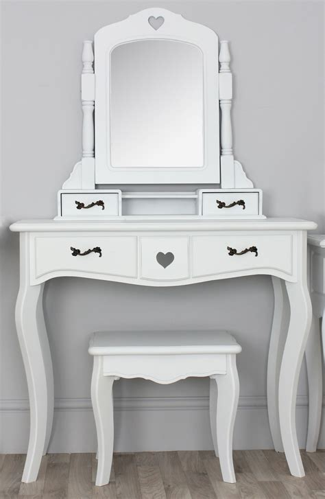 white desk mirror vintage small white vanity desk with mirror and black