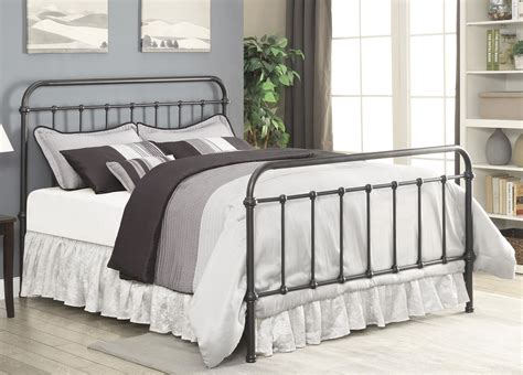 queen metal bed livingston dark bronze queen metal bed from coaster