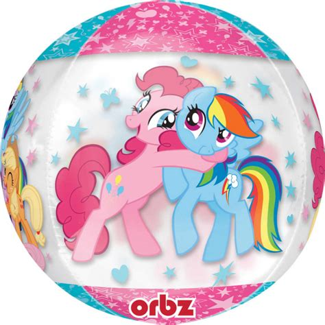 Balon Foil My Pony 1 orbz quot my pony quot foil balloon clear g40 packed 38 x 48 cm amscan europe