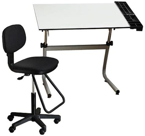 Drafting Table And Chair Alvin Cc2001d Vista Creative Center Drafting Table Drafting Chair Set Contemporary Heavy Duty