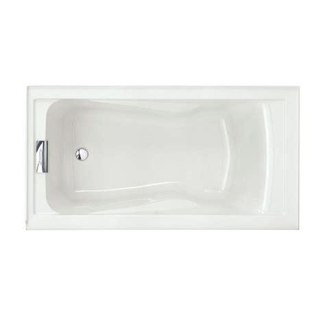 american standard evolution bathtub american standard evolution 5 ft left drain soaking tub in white 2425v lho 002 020