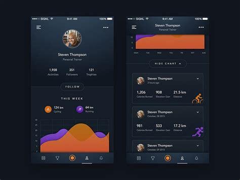 design inspiration ios app fitness health app design inspiration muzli design