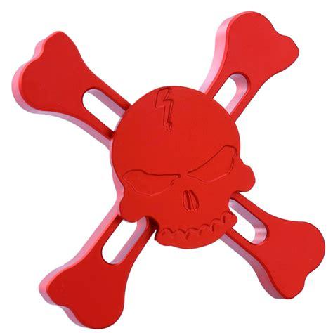 Gold Skull Fidget Spinner brass skull and crossbones fidget spinner
