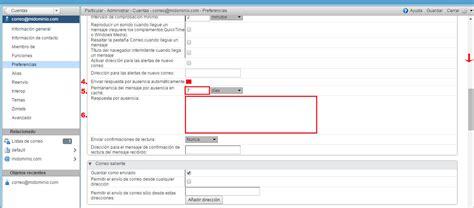tutorial de zimbra en español crear autoresponder de correo en zimbra
