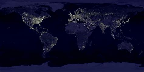 world map city lights nasa visible earth earth s city lights
