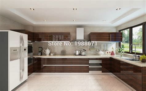 mdf for kitchen cabinets mdf kitchen cabinet doors modern high gloss wood veneer lacquer kitchen cabinet in kitchen