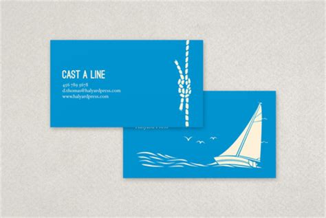 nautical business card template inkd