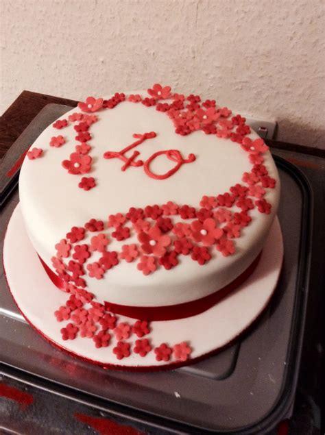 Wedding Anniversary Ruby Ideas by Ruby Wedding Anniversary Cake Showers