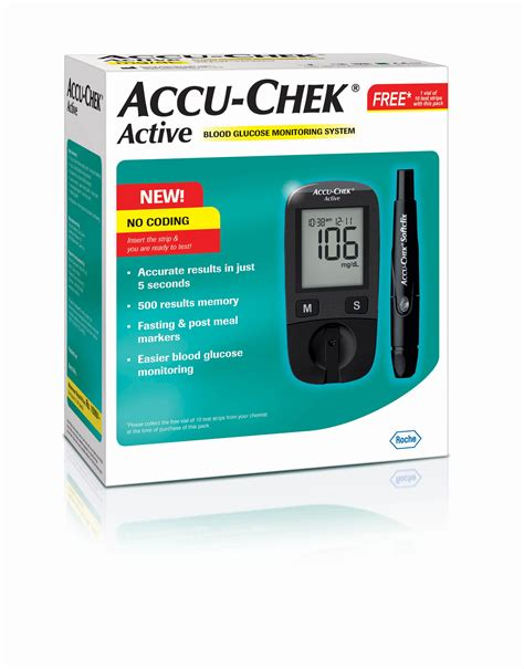 Accuchek Aktif accu chek active glucose monitor with 10 test strips buy at best price in india on snapdeal