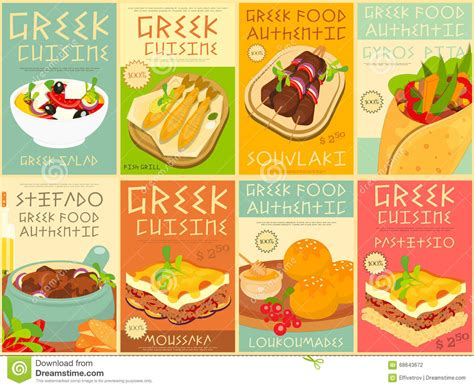 posters cuisine food posters set stock vector illustration of feta