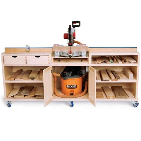woodworker s journal ultimate miter saw stand plan