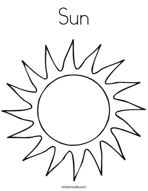 what color is sun sun coloring page twisty noodle