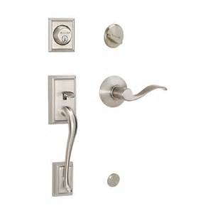 shop schlage satin nickel single lock keyed entry