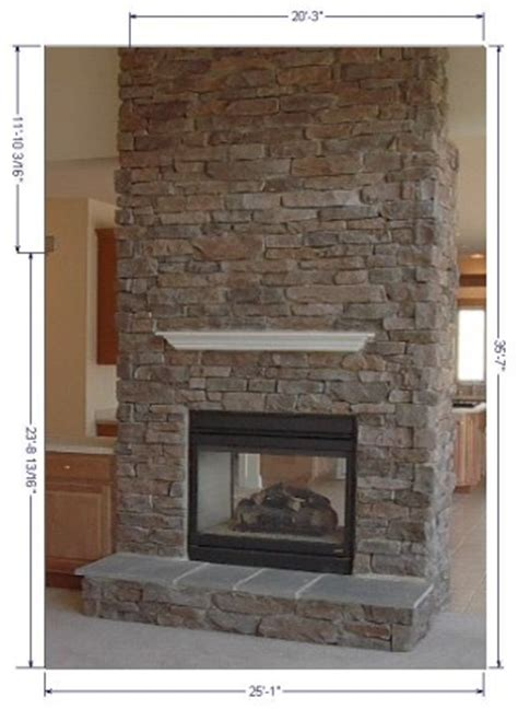 Faced Fireplace by Eldorado Or Owens Corning Cultured And Brick Facing