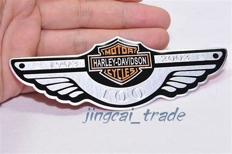 Sticker Harley Longhorn 12 Cm harley davidson 100 anniversary motorcycle aluminium emblem badge sticker decal