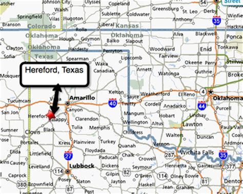 hereford texas map flatclassroomproject2008 class introductions