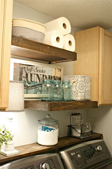 diy laundry room shelves lg washer and dryer review four years later from thrifty decor