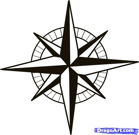 nautical compass pattern how to draw a compass compass