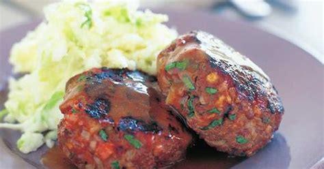 beef  bacon rissoles australian womens weekly food
